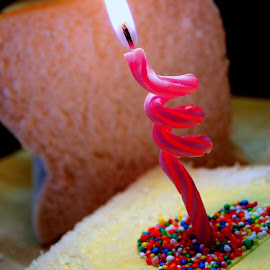Celebrate by Suzanne Cooper - Novices Only Objects & Still Life ( birthday, candle, happy, fairy bread )