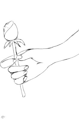 Hand holding a rose by malati for Hand holding a rose drawing