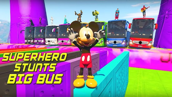Superhero Big Bus Stunts Drive for pc