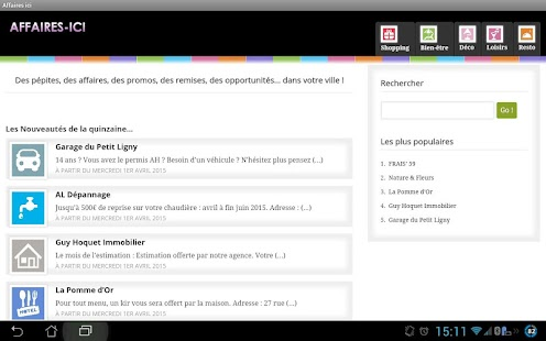 Affaires ICI - screenshot