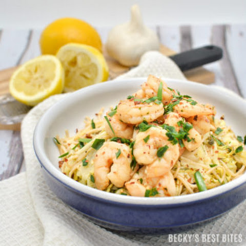 Easy Shrimp Scampi with Zoodles and Noodles