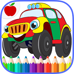 Cars Trucks Kids Coloring Book