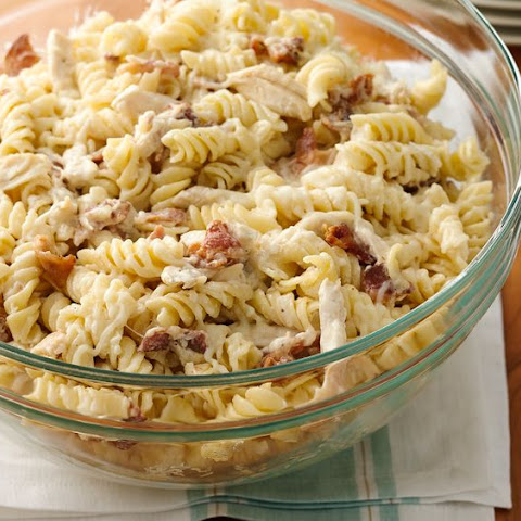 Make-Ahead Chicken Bacon Ranch Pasta