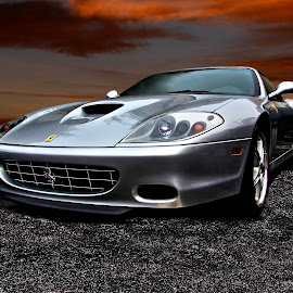 Merlin by JEFFREY LORBER - Transportation Automobiles ( lorberphoto, ferrari, rust 'n chrome, exotic, silver car, jeffrey lorber )