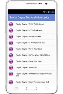 Taylor Dayne Lyrics - screenshot