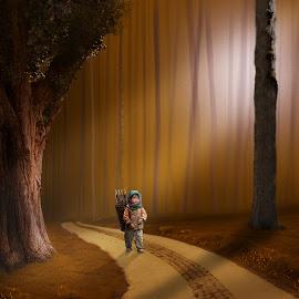 The Woodpicker by Frank Quax - Digital Art People ( fantasy, creative, editing, photoshop )