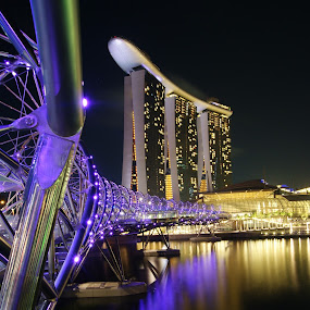 Marina Bay Sand (Helix Bridge) by Riki Boo - Buildings & Architecture Bridges & Suspended Structures