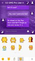 Screenshot of GO SMS Pro Purple Sparkle