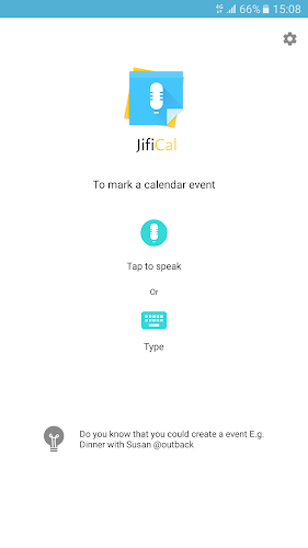 JifiCal Android App Screenshot