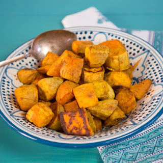 Curry Roasted Sweet Potatoes