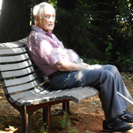 Let me Rest ! by David Jarrard - City,  Street & Park  City Parks ( contests, parks, birthdays.resting, helen georgia )