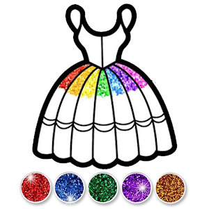 Glitter Dress Coloring and Drawing for Kids Online PC (Windows / MAC)