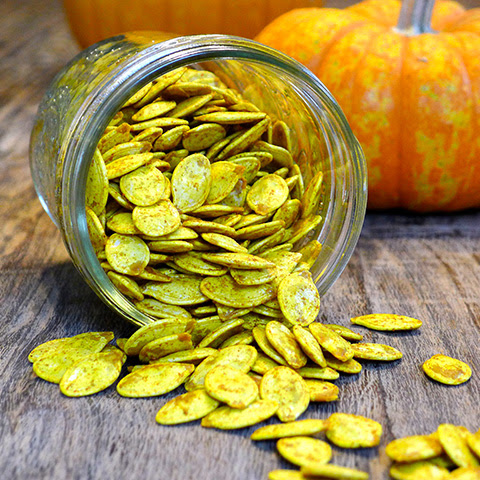 Toasted Turmeric Pumpkin Seeds