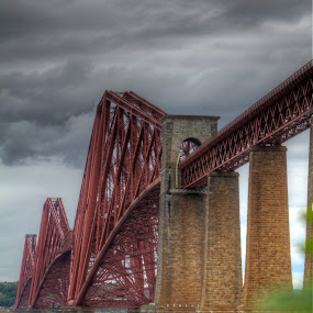 The Bridge by Mark Holm - Buildings & Architecture Bridges & Suspended Structures ( scotland, edinburgh, forth bridge, victorian, bridge )