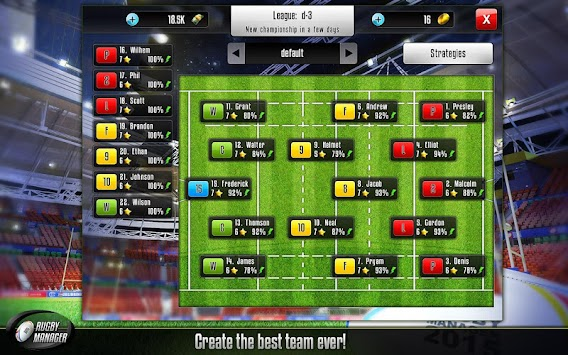 Rugby Manager APK screenshot thumbnail 14
