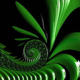 Green pattern  by Capucino Julio - Illustration Abstract & Patterns ( pattern, green, fractal, design, floral )