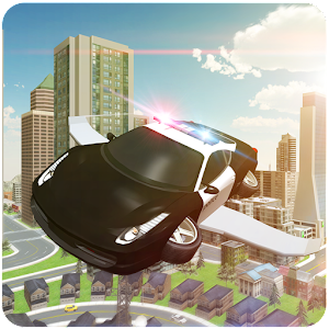 Flying Cop Car 3D