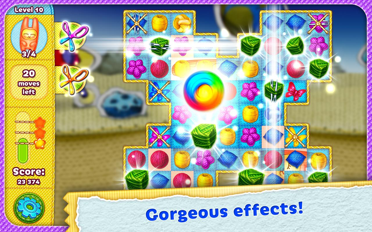 Rolling Yarn: Amazing Puzzle Screenshot 2