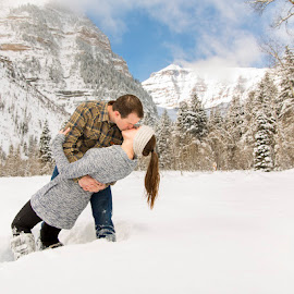 Snowy Mountains - Color by Glenn Pearson - People Couples ( timpanogos mountain utah, lds photography, 5d mark iii )