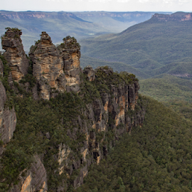 The Three Sisters, Australia by Reinilda Sissons - Landscapes Caves & Formations (  )