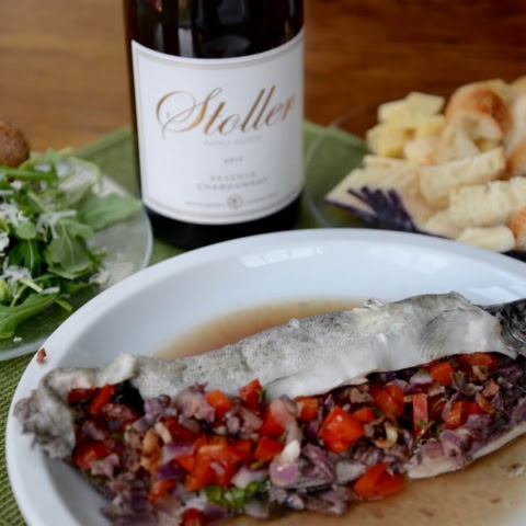 Whole Stuffed Rainbow Trout