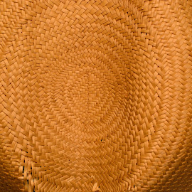 Woven Straw Hat by Bryan Wenham-Baker - Abstract Patterns ( hat of straw, crown of hat, hat crown, woven straw, straw weave, straw, weave, woven, woven straw hat, straw weaving, straw hat, weaving )