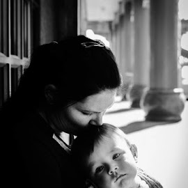 Mother and Child by Claire Wright - People Family