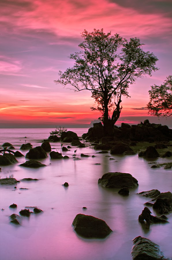 Deep Purple by Eddie Cheever - Landscapes Weather ( belitung )