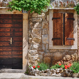 Stone by stone... by Dubravka Krickic - Buildings & Architecture Homes ( home, old, wooden, window, village, croatia, door, stone, house )
