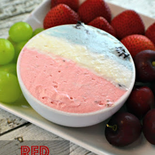 Red, White & Blue Fruit Dip