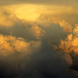 heaven by Rohit Pawar - Novices Only Landscapes ( clouds, sky, plane, heaven, sunset, sunrays )