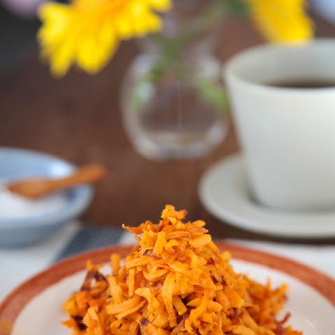 Waffle Iron Sweet Potato Hash Browns