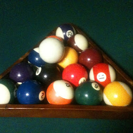 Pool billiards by Cynthia Nuckolls - Sports & Fitness Cue sports ( games, pool ball rack with balls, pool billards, pocket billards, cue sports )