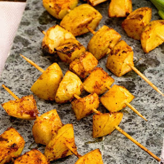 Barbecue Potato Kebabs
