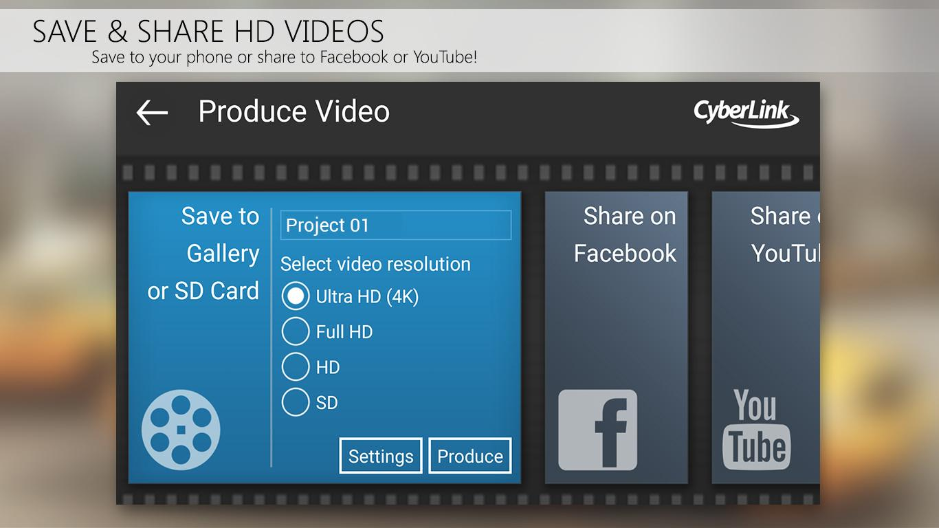 PowerDirector Video Editor App: 4K, Slow Mo & More Screenshot 5