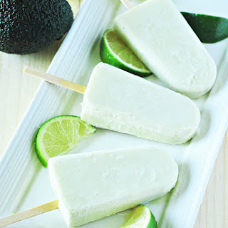 Avocado Lime Popsicles