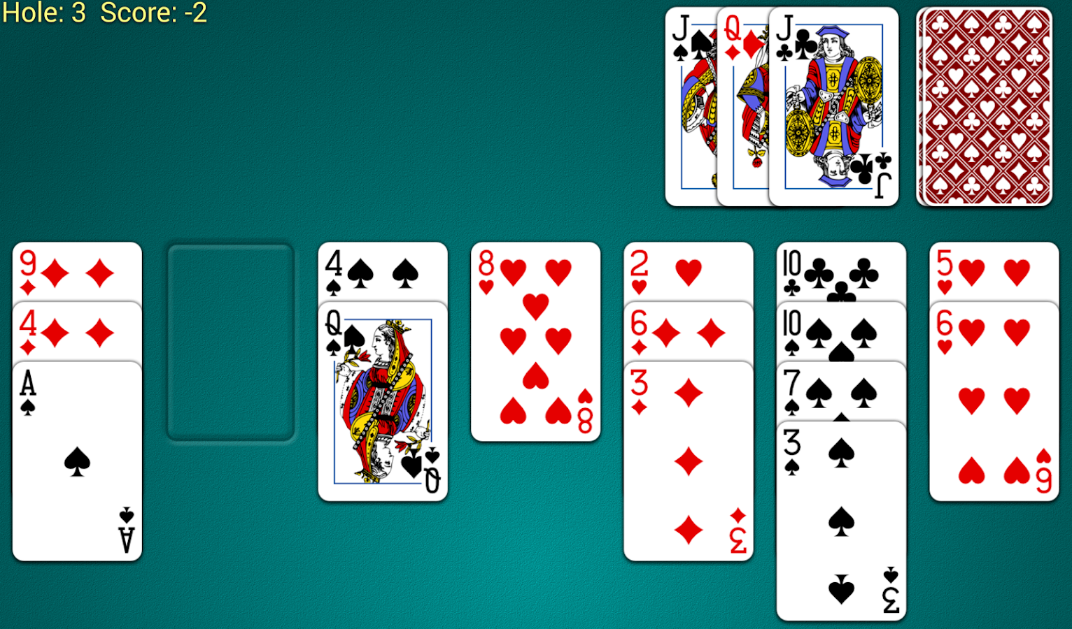 Golf Solitaire Screenshot 3
