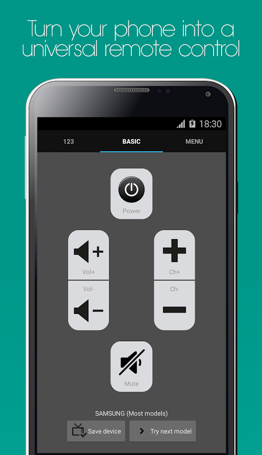 Galaxy Universal Remote Screenshot 0