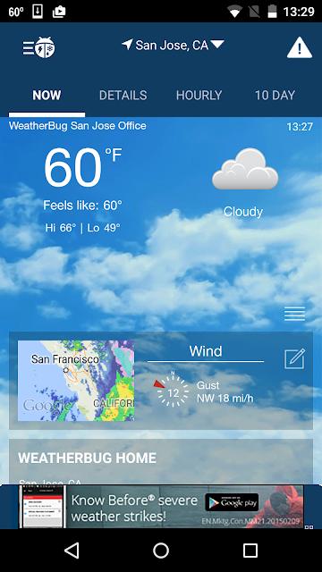 WeatherBug screenshots