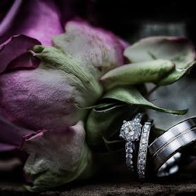 The bonds of matrimony by John Kincaid - Wedding Details ( wedding, rings, flower )