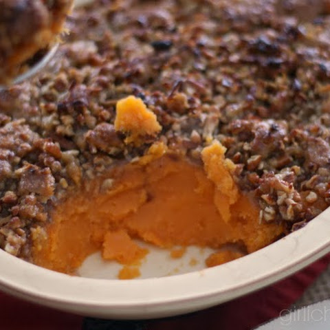 Whipped Sweet Potatoes and Bananas with Pecan Streusel