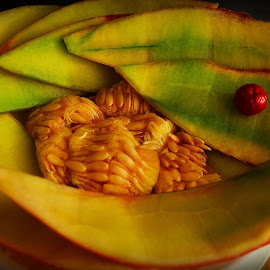 Still life by Prasanta Das - Artistic Objects Still Life ( musk melon, stilllife, seeds, skin )