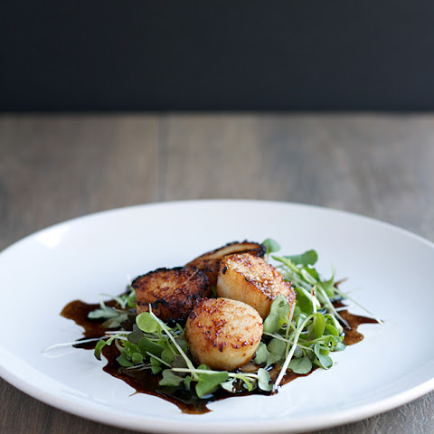 Seared Scallops with Micro Greens