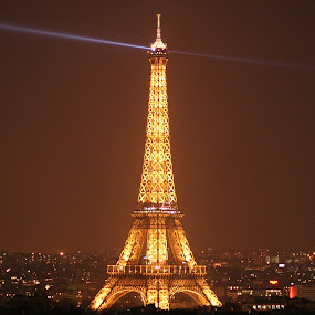 Eiffel Tower by Gaurav Dhup - Buildings & Architecture Public & Historical ( eiffel tower, paris, europe, france, night,  )