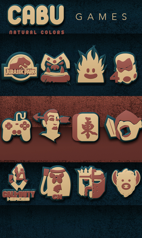 Cabu Icon Pack Natural Colors Screenshot 2