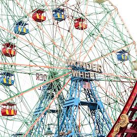 Coney Island Ferris Wheel by Brittani Chin - City,  Street & Park  Amusement Parks