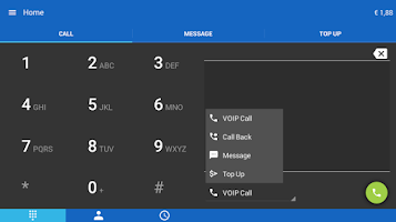 Screenshot of WebCallDirect cheap calls