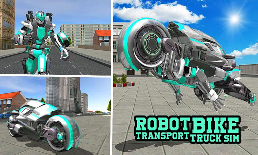 Robot Bike Transport Truck Sim