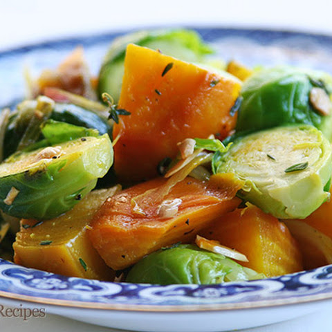 Golden Beets and Brussels Sprouts