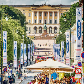 Oslo by Richard Michael Lingo - City,  Street & Park  Street Scenes ( oslo, street, street scene, norway, city )